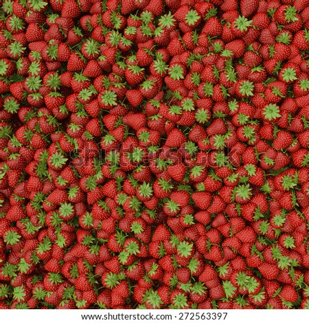 pile of strawberries on display - stock photo