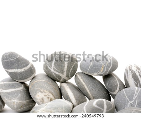 Pile of striped stones - stock photo