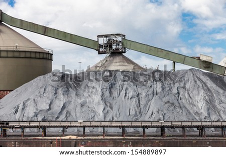 Pile of the dirty waste - stock photo