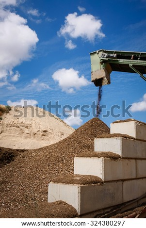 Pile of waste safe disposal, Great for recycle and environmental themes. - stock photo