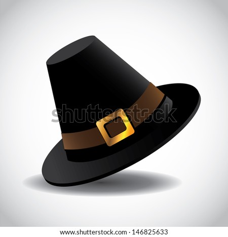 Pilgrim Hat. jpg - stock photo