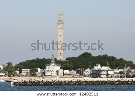 Pilgrim Tower in Provincetown, Cape Cod - stock photo