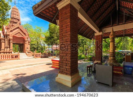 Pillar of Kamphaeng Phet in the sacredness of the people of Thailand for a long time.  court  - stock photo