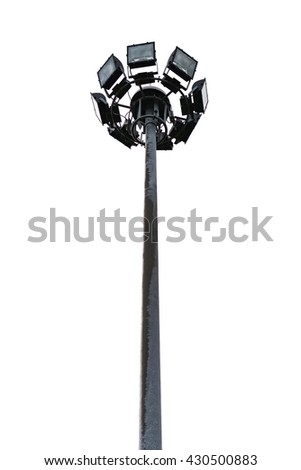 Pillar spotlights - stock photo