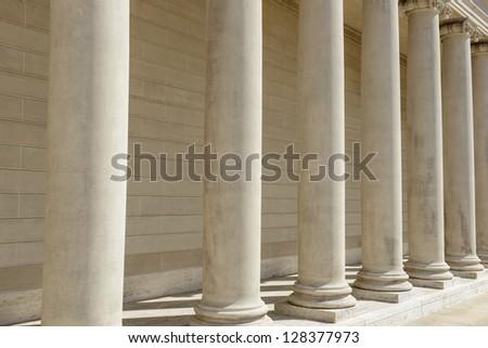 Pillars - stock photo