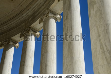 Pillars - stock photo
