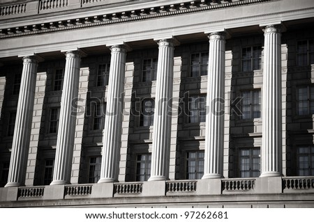 Pillars of Law - stock photo
