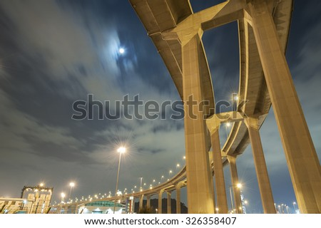 Pillars of viaduct  - stock photo