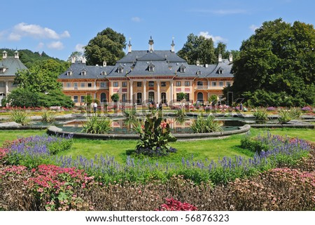 Pillnitz Castle in Saxony near Dresden, Germany (Europe) - stock photo