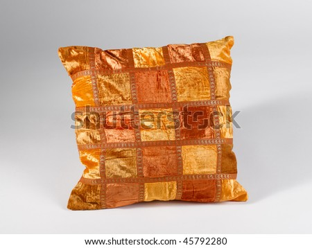 pillow gold orange - stock photo