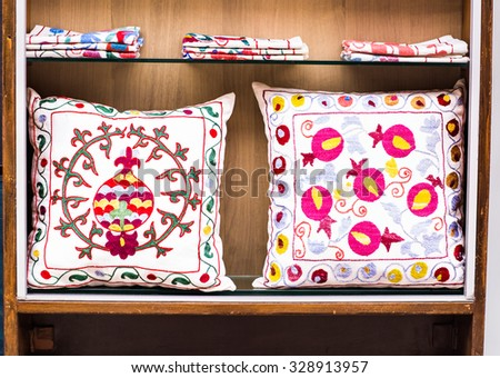 pillows in Istanbul - stock photo