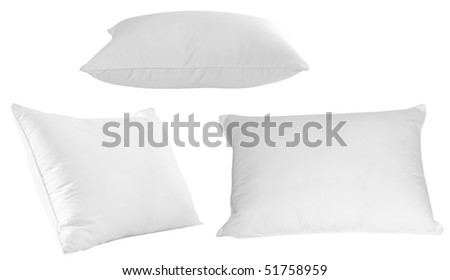 Pillows. Isolated - stock photo