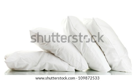 pillows isolated on white - stock photo