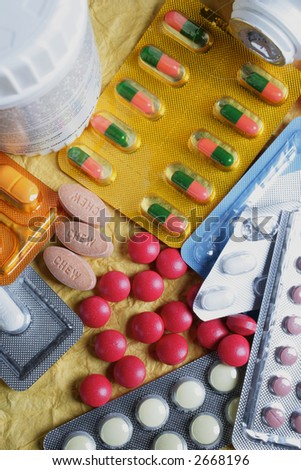 Pills and Tabs - stock photo