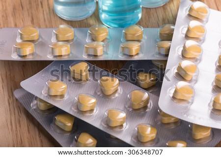 Pills, drugs, ampoules. Medicine. Health. - stock photo