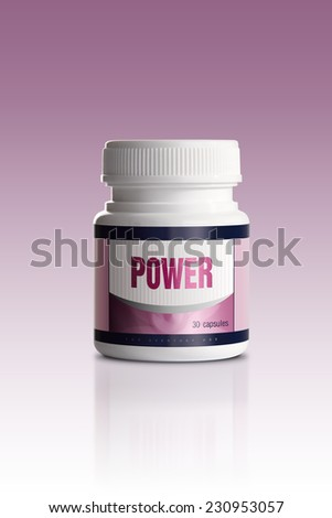 Pills for increase Power - stock photo