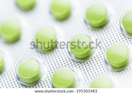 pills in blister - stock photo