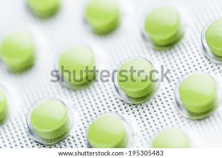 pills in blister - stock photo