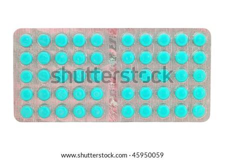 Pills isolated on white - stock photo