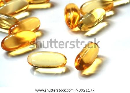 pills of oil - stock photo