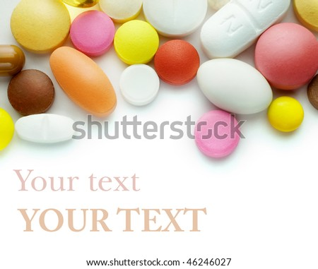 Pills on a white background - stock photo
