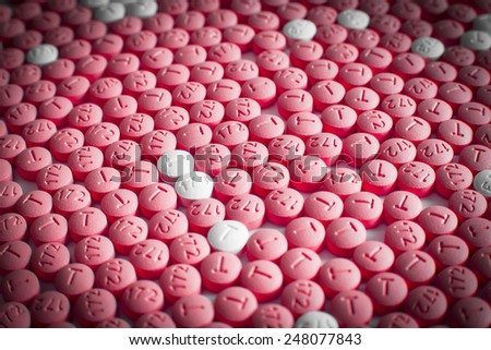 pills, tablets capsules isolated on a white background  - stock photo