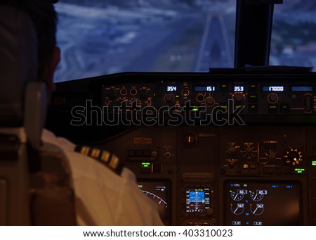 Pilot Cabin - stock photo