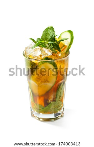 Pimm's Cocktail - stock photo