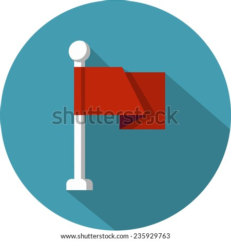 Pin Flag  - stock photo