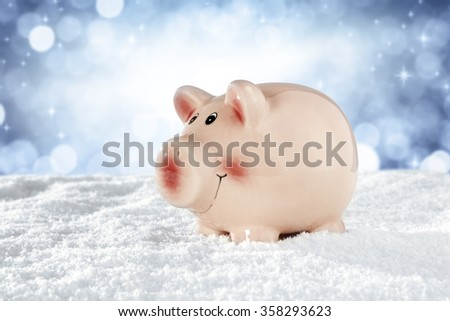 pin snow and sky on background  - stock photo