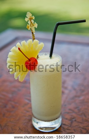 pina colada cocktail drink - stock photo