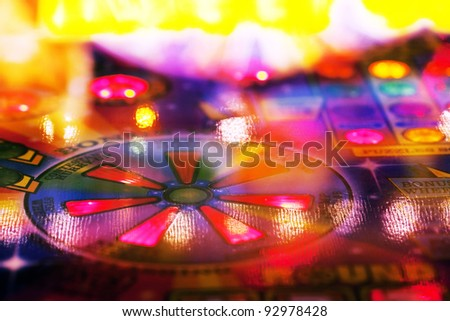 pinball background - stock photo
