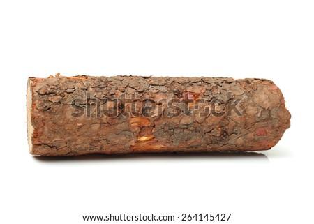 Pine logs on white background - stock photo