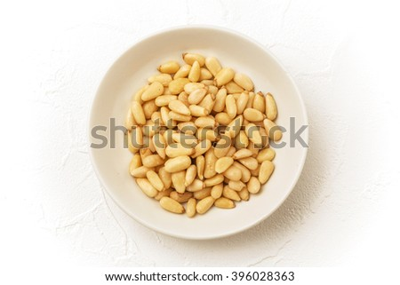 Pine nut Chinese medicine dishes prepared with medicinal herbs - stock photo