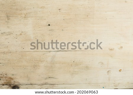 Pine wood texture with grunge yellow white color. Copy space. - stock photo