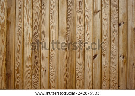Pine wooden old fence. A building background - stock photo