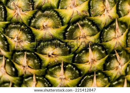 Pineapple fruit close up  - stock photo
