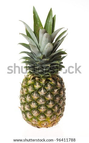 Pineapple isolated on white - stock photo