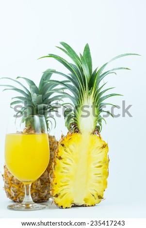 Pineapple Juice - stock photo