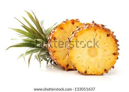 Pineapple on white background - stock photo