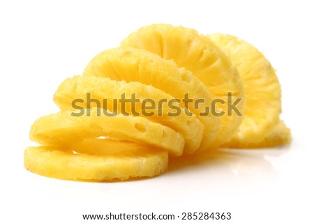 Pineapple on white background  - stock photo