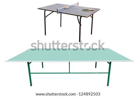 ping-pong table under the white background - stock photo