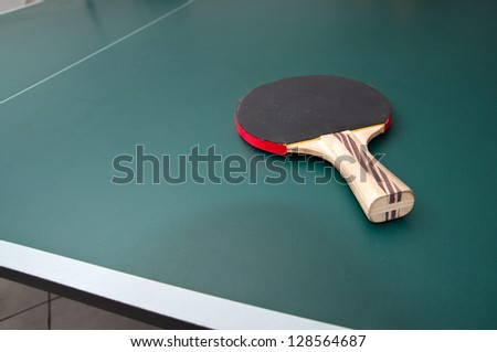 "ping pong ""tenis"" table background - stock photo"