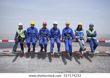 Pingshuo,China-May 24,2012:Chinese worker working at coal mining site - stock photo
