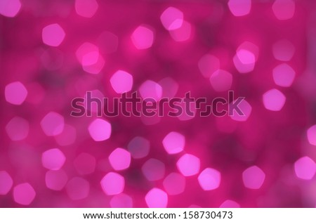 Pink abstract background, blurred lights - bokeh - stock photo
