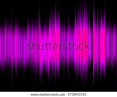 Pink abstract digital sound wave on a black background. - stock photo