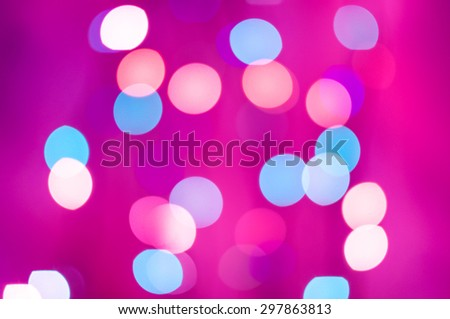 pink abstract glitter bokeh lights. defocused lights background - stock photo