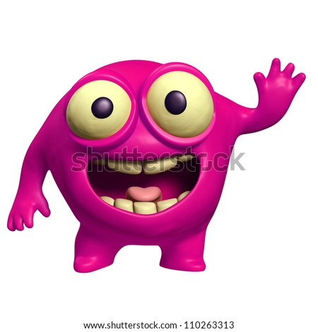 pink alien - stock photo