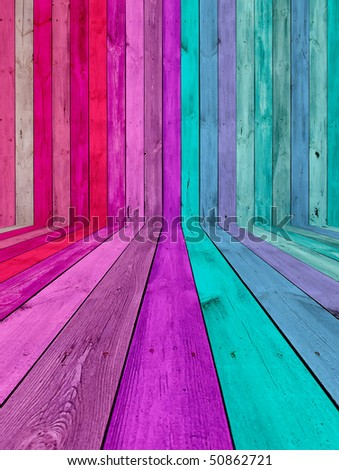 Pink and Blue Room - stock photo