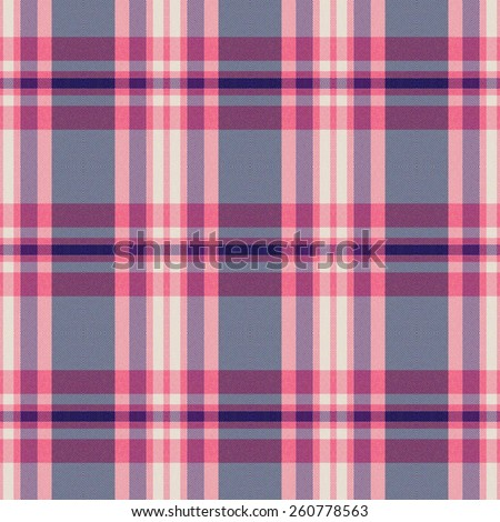 pink and blue Tartan textile seamless background  - stock photo